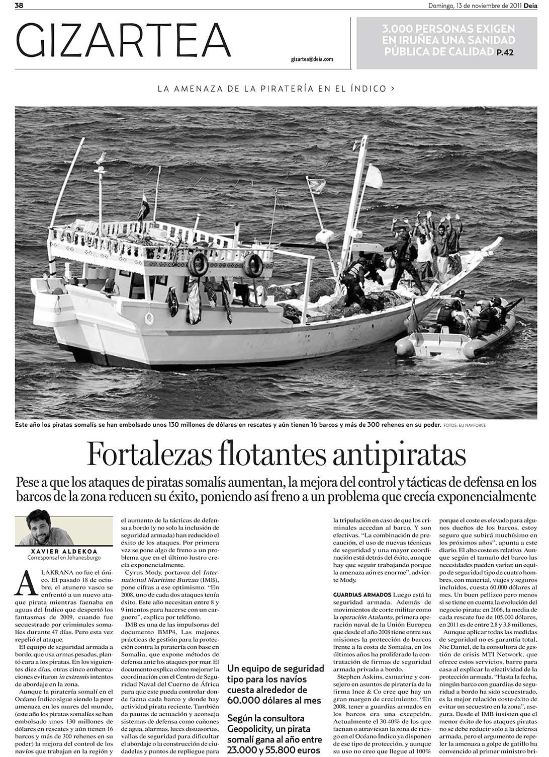 Fortalezas flotantes antipiratas