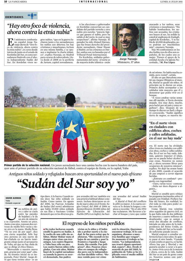 Sudán del Sur soy yo
