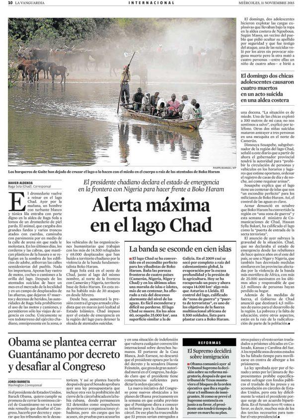 Alerta máxima en el lago Chad