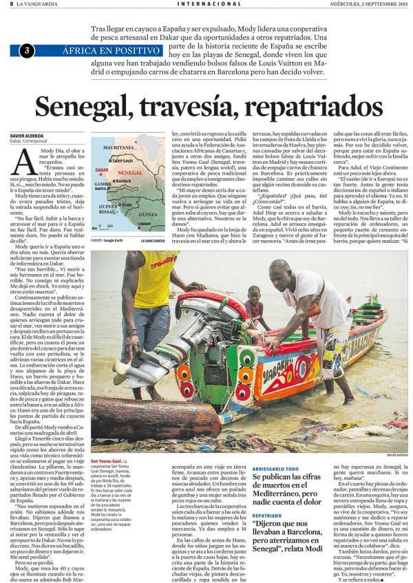 Senegal, travesía, repatriados